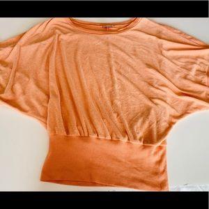 Anthropologie Orange Cotton Shirt